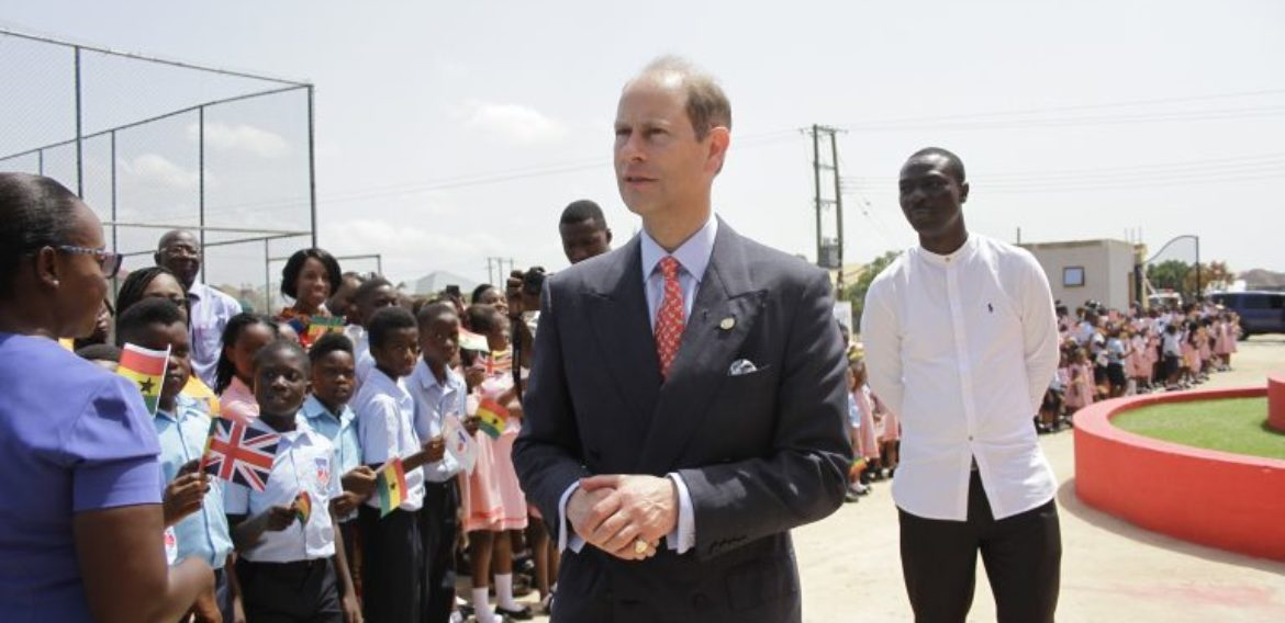 HRH Prince Edward Attends Youth Concert and Exhibition at British International School, Ghana.