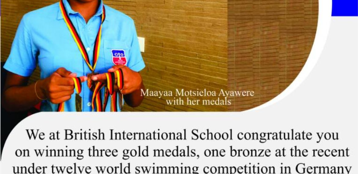 Congratulations Ghana's Swimming Prodigy