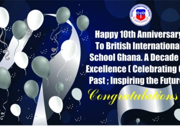 CONGRATULATIONS!!! British International School @ 10