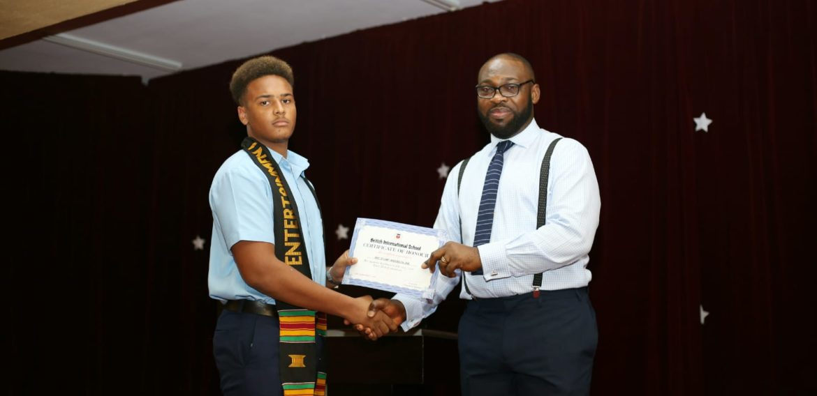 2017/2018 Honour Roll. Excellent Achievement Awards at the BIS secondary.
