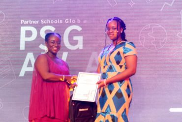 Principal of BIS celebrates with CHIOMA-Best student in Economics IGCSE